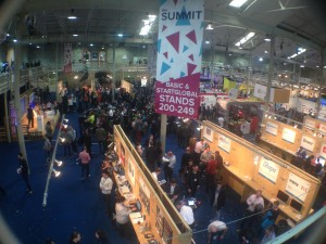 Web startups stands at Summit