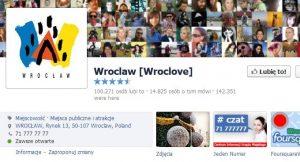 Profil Wrocławia na Facebooku
