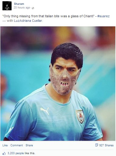 The most hilarious Facebook post about Suarez