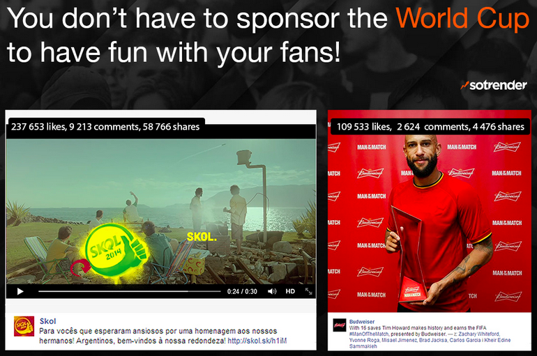 Good examples of news hijacking during FIFA World Cup 2014