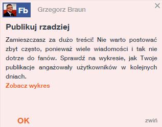Grzegorz Braun nie pisz tak często