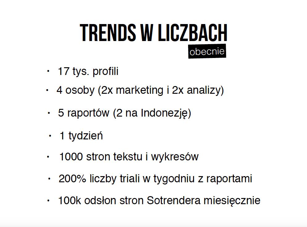 Raporty Trends w liczbach