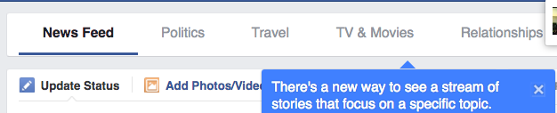 Facebook new Profile tabs