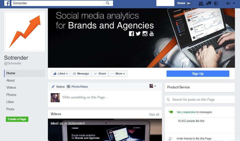 Facebook New Profiles - Sotrender profile