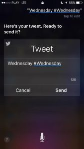 Twitter facts: Siri can help you to write and send tweets