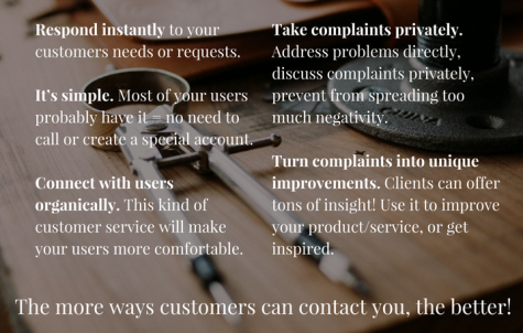 customer service, social media, tips, contact