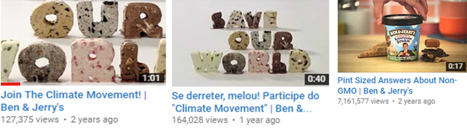 Ben & Jerry's Climate Change Videos YouTube