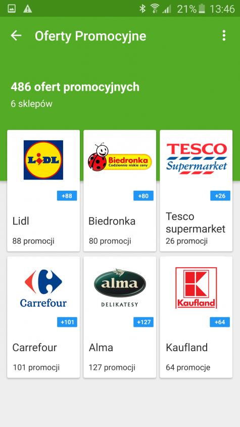 gazetki i promocje w aplikacji Listonic