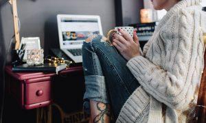 autumn, tv, laptop, series, tea