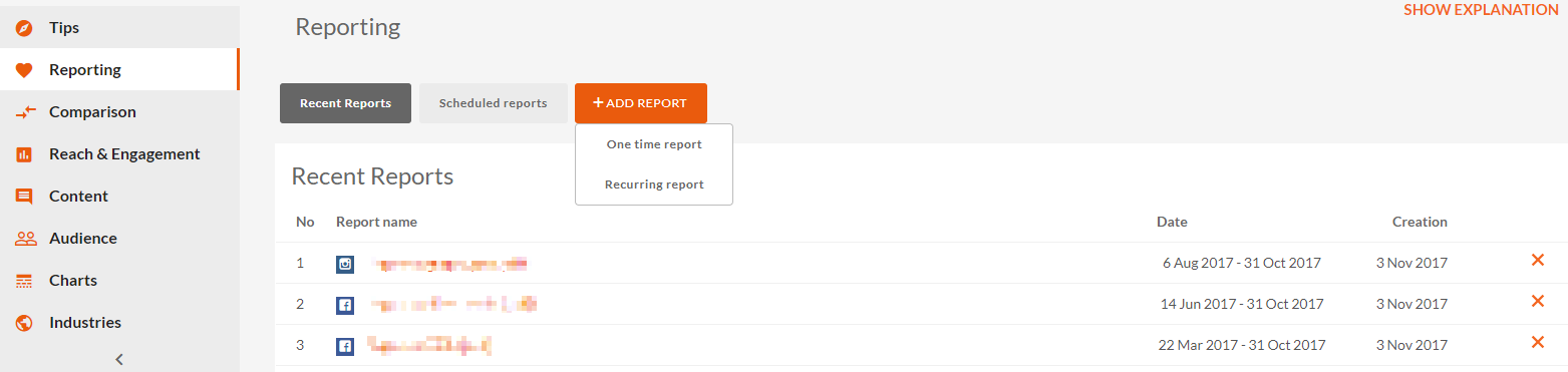 reporting, one time report, recurring reports, sotrender, reports