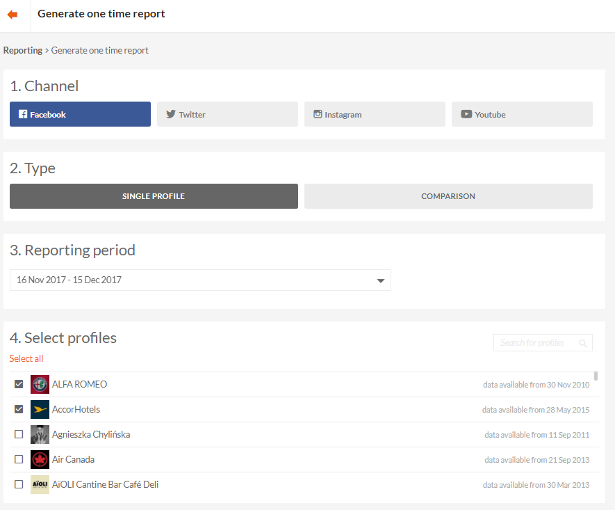 generate a report, one time report, recurring reports, reports