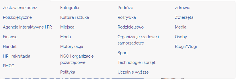 Nowa kategoryzacja w raportach Trends