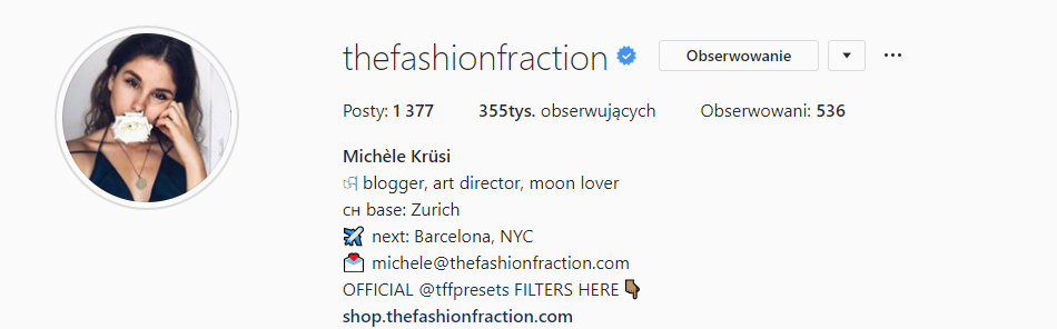 The Fashion Fraction profile on Instagram