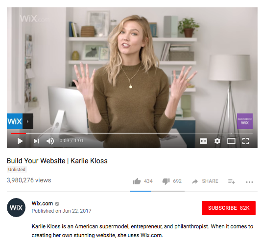influencer-marketing-ideas-karlie-kloss-wix
