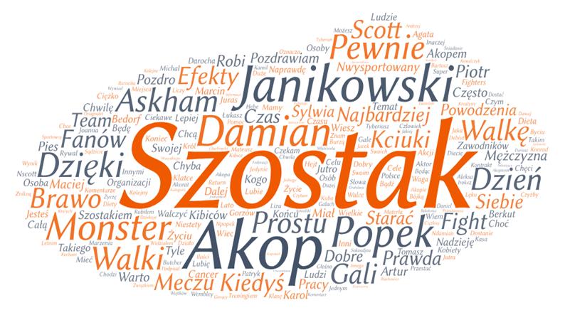 Najpopularniejsze słowa ze wzmianek, badanie Influence Index, Sotrender