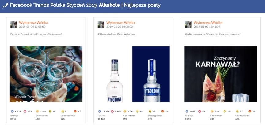 Post marki Wyborowa w ramach #10yearschallenge