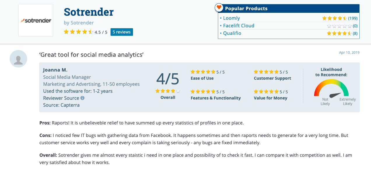 online reviews capterra