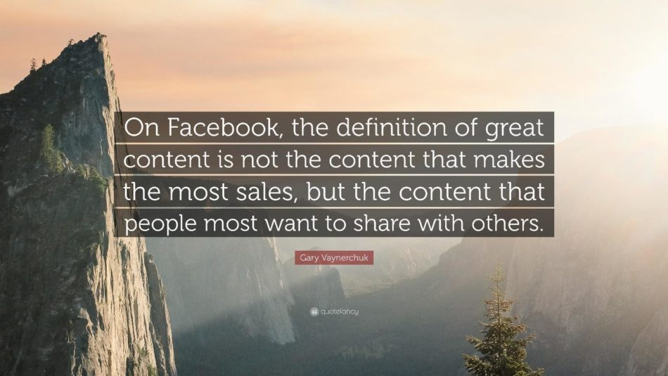 Facebook content marketing quote