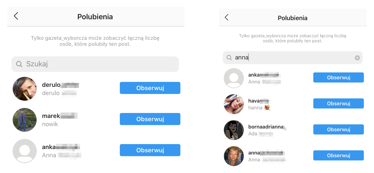 polubienia na instagramie
