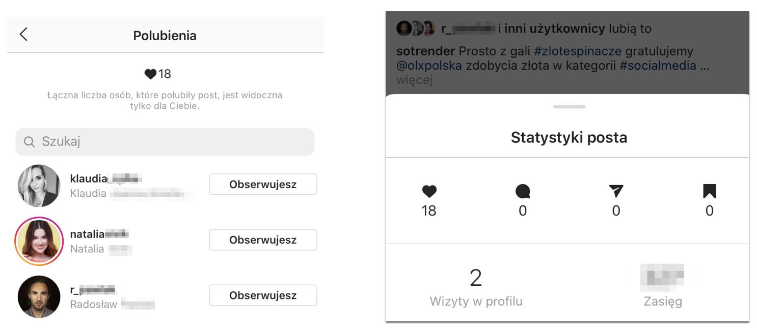 ukrycie polubień na Instagramie