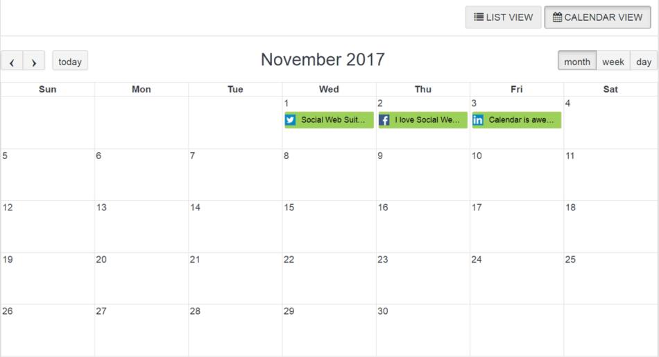social web suite calendar