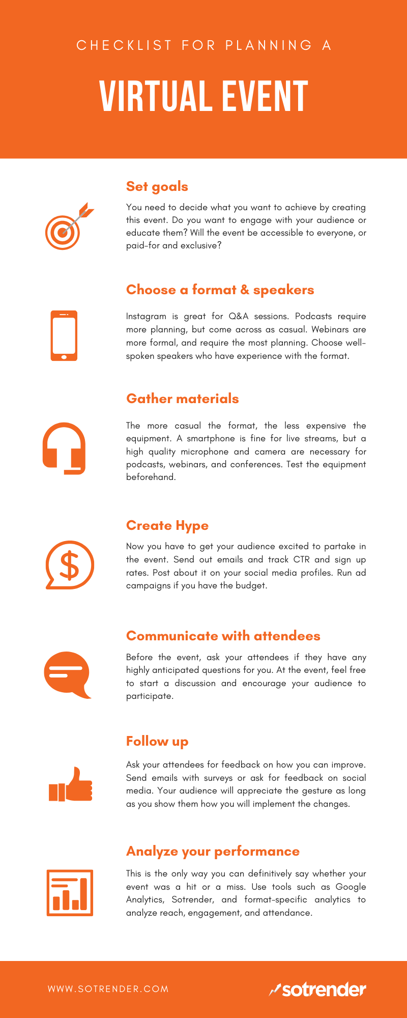 Virtual event planning guide by Sotrender