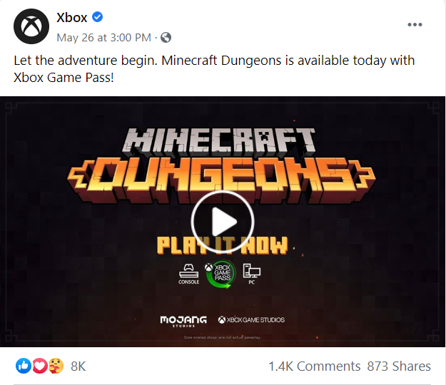 Xbox sponsored content about Minecraft
