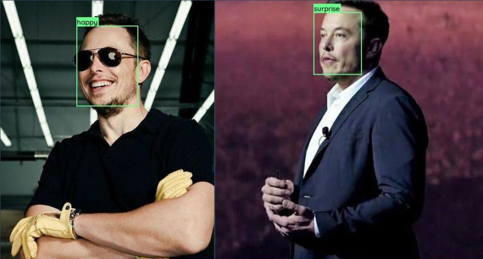 emotion recognition model used on Elon Musk