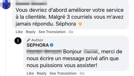 canadian sephora customer service