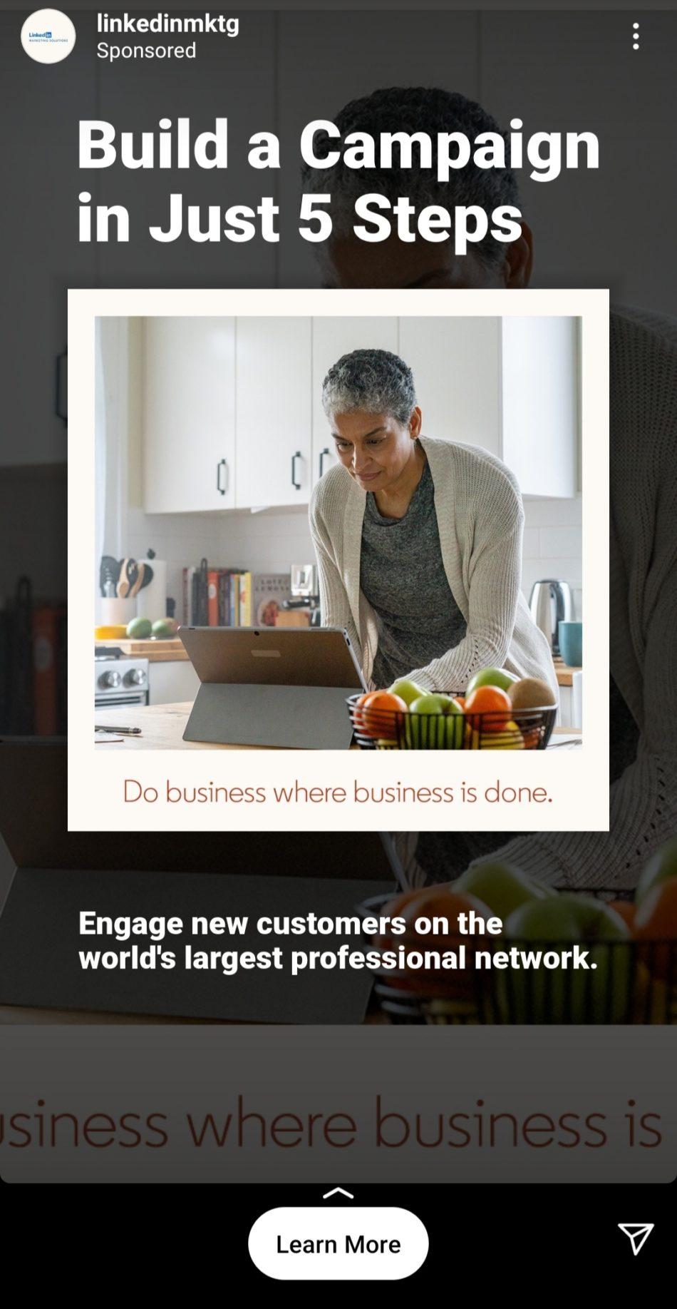linkedin marketing instagram ad