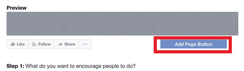facebook add page button