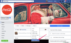 Example of global Facebook Page in new style.