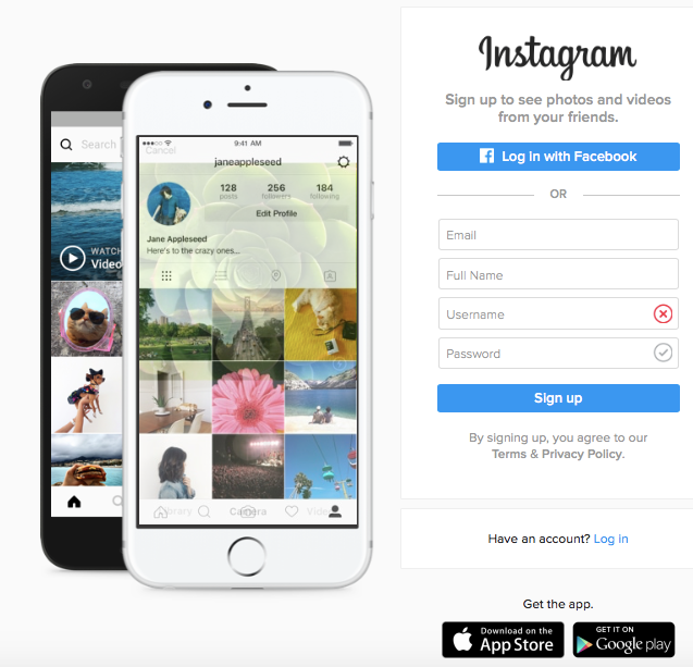 How do I create an Instagram account? Sign-up