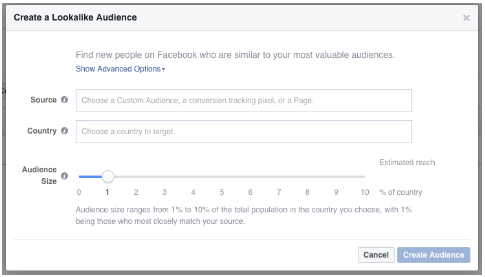 How to create Facebook Lookalike Audience