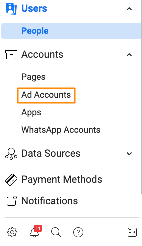 permissions for facebook ads account
