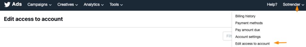 edit twitter ad account access multiuser login