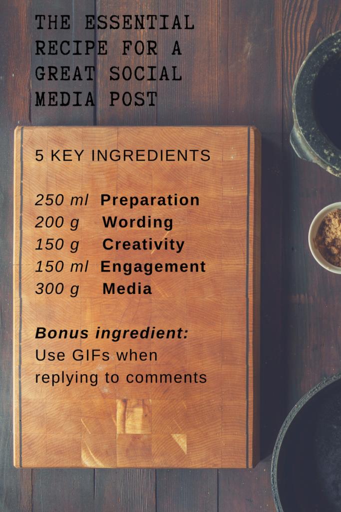 social media post recipe