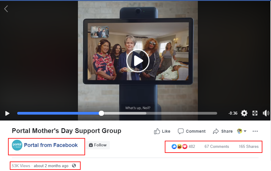 Mother's day support group portal