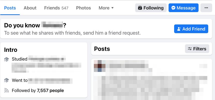 user's followers on facebook