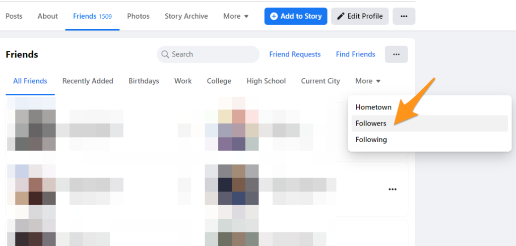 how to see your followers on facebook