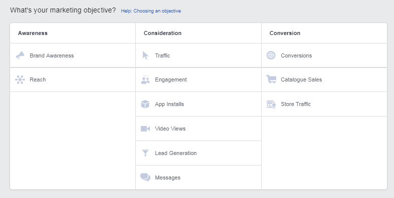 setting facebook ads