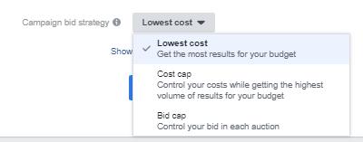 lowest cost bid facebook