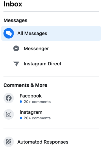 answer instagram messages from facebook