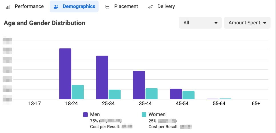 facebook analytics amount spent