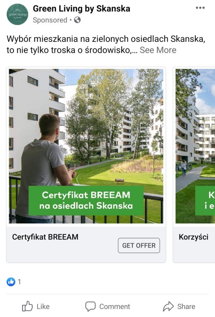facebook ad carousel format
